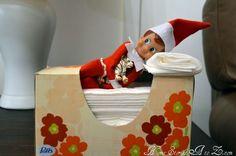 Elf on the shelf tissue box