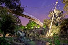 Since its completion in 2004, the Liberty Bridge has become Greenville's most recognizable landmark and a unique symbol of the city's downtown revitalization efforts.