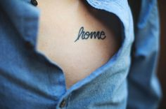 #tattoo home is where the heart is