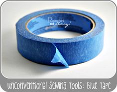 This lady shows several ways to use blue tape as a sewing tool