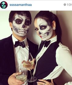 Skeleton Makeup vía Instagram