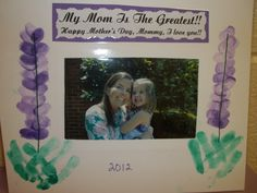 Finished Picture Frame.. Each mommy had a picture taken with their child!