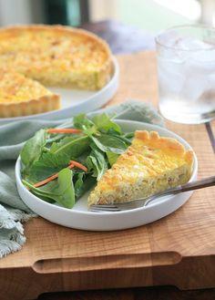 Gluten Free Onion and Leek Quiche   gluten free, vegetarian #glutenfree #vegetarian