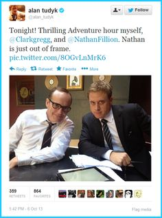 Alan Tudyk and Clark Gregg