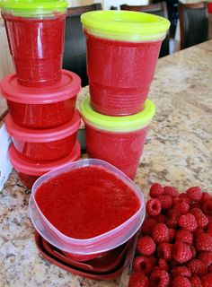 Grain Crazy: Easy Raspberry Freezer Jam or Topping (healthy) Low Sugar