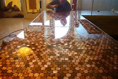 DIY Penny Countertop...