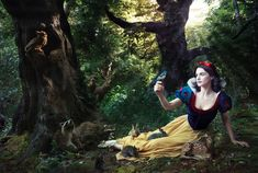 real life, disney dreams, fairy tales, disney parks, annie leibovitz, disney fantasy, disney characters, rachel weisz, snow white