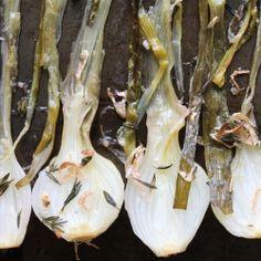 roast onion, onions, spring onion, roast spring, thyme, clean side, recip, side dish, foodi