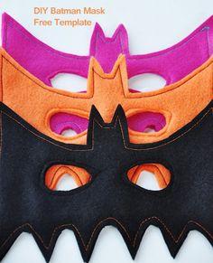 DIY Batman Masks :: Free Template