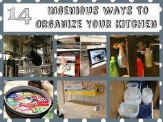 14 Ingenious Ways To Organize Your Kitchen kitchens, organ idea, kitchen organization, clean, organize kitchen, organis storag, around the house, 14 ingeni, organ kitchen