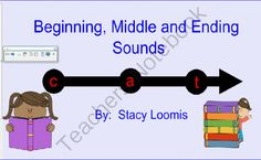 Beginning, Middle and Ending Sounds from SensibleSubstitute on TeachersNotebook.com -  (21 pages)  - This is an interactive activity where students come to the SMARTBoard and select the sound.