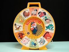 I remember this toy! See & Say!! What a fun fun thing it was.... oh the memories - the cat says Meow!!