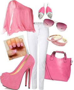 """""""Pretty in PINK!"""" by mselle480 on Polyvore"""
