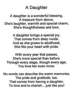 Special poem for daughters
