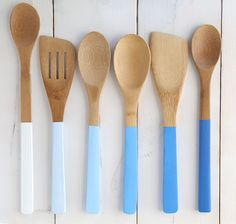 fourth of july painted ombre spoons
