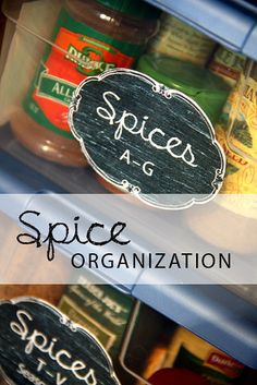 Fun idea for organizing your spices!