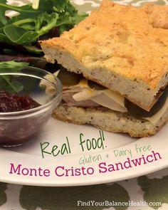 Real food makeover: The Monte Cristo Sandwich #glutenfree #dairyfree #healthy #realfood http://findyourbalancehealth.com/2014/05/real-food-makeover-the-monte-cristo-sandwich