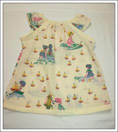 Vintage Holly Hobby Seaside Fabric Dress