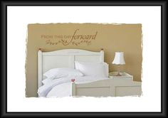 wall decals, bed