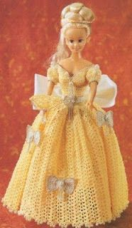 Elegant Barbie dress with diagram