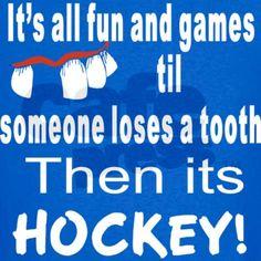 its hockey!