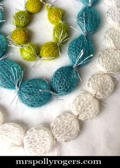 Simple Knit Winter Jewelry using Rowan Kidsilk Haze yarn