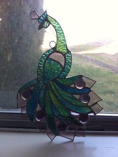 Peacock Stained Glass | eBay