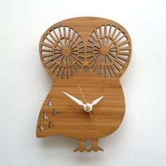 Owl clock for the kid's room.