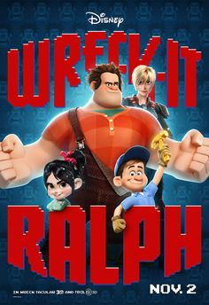 Exclusive Wreck-It Ralph Posters Feature Video Game Icons.