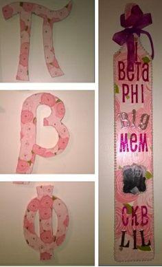 Rose Pi Beta Phi crafts #piphi #pibetaphi
