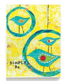 Love this 'Simply Be' Wall Art on #zulily! #zulilyfinds