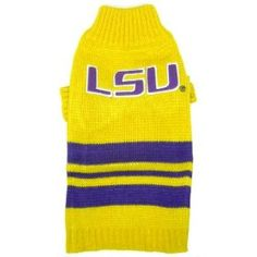 LSU Tigers dog pet NCAA sweater SM 8-15lbs $18.39