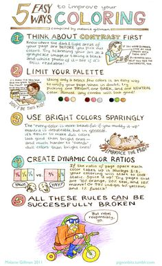 Melanie Gillman : 5 ways to improve coloring chart.