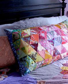 pillowcas, diy quilt, patchwork pillow, quilt pillow, cushion, jelly rolls, challeng, pillow covers, triangl