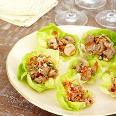 Pork and Mushroom Lettuce Wraps #recipe