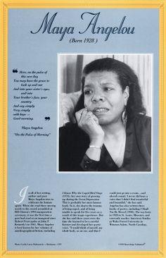 Free Maya Angelou Poems | Maya Angelou Poet Study