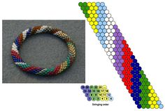 FREE - Sophie Sommer's Seven-Color Bracelet : Bead Crochet Rope Pattern featured in Bead-Patterns.com Newsletter!