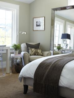 Bedroom Design, Pictures, Remodel, Decor and Ideas  like the wall color -november rain-benjamin moore