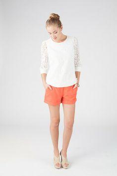 dream closet, barbara white, spring 14, white lace, skinni outfit