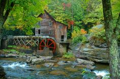 Old grist mill at Babcock State Park