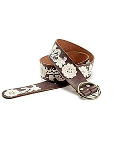 Lucky Brand belts are my favorite! Embroidered Paisley Floral Belt - Accessories - Lucky Brand Jeans