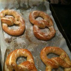 German style pretzels - deeeelish!  Love warm fresh pretzels!!!