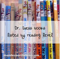 Dr. Suess books listed by reading levels