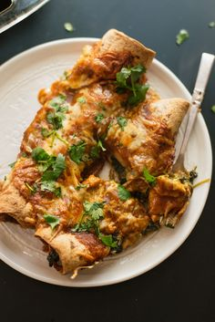Spinach Artichoke Enchiladas - Cookie and Kate