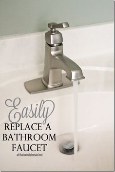 Easily Replace a Bathroom Faucet with this helpful tutorial!  #homeimprovements #DIY #bathrooms