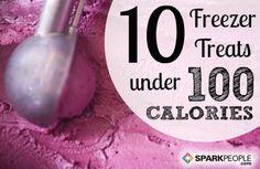 10 Freezer Treats under 100 Calories via @SparkPeople
