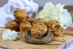 Healthy Zucchini and Banana Muffins! So delicious and good for you!