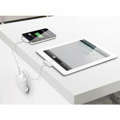 iLuv RockWall - Dual #USB Wall #Charger. Super nifty idea. #iphone #ipad #gadget