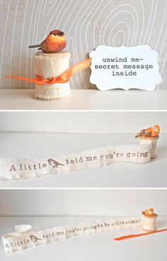 With a tiny bird: | fun way to send a message