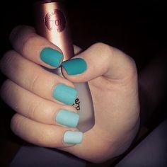 matte ombre nails, ombre matte nails, blue matte nails, blue ombr, ombre nails green